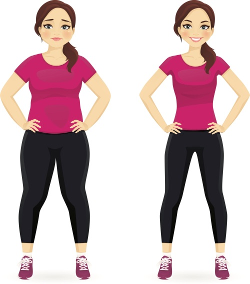 Plump & Thin Woman - Before & After