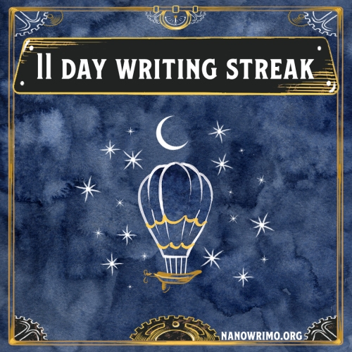 Day 11 writing badge