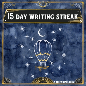 Day 15 writing badge