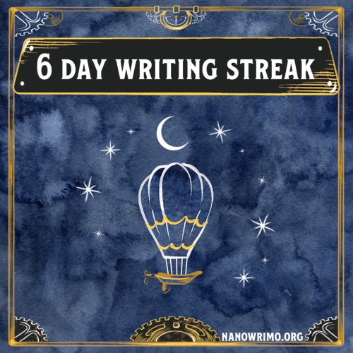 Day 6 writing badge
