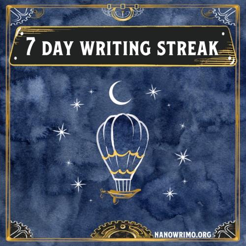 Day 7 writing badge